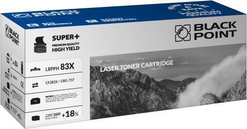 Toner Black Point LBPPH83X | Black | 2600 pp | HP CF283X / CRG-737