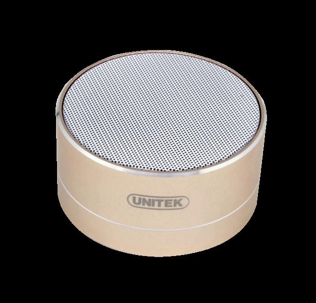 Unitek Y-B101GD Bluetooth reproduktor, zlatý