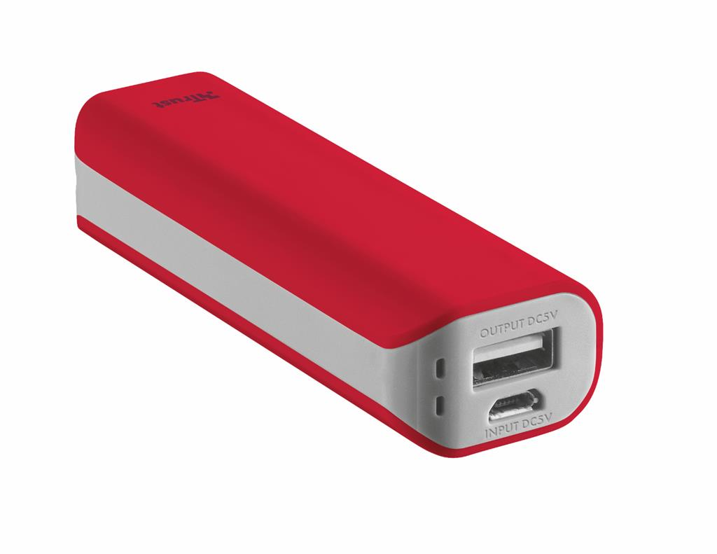 Primo PowerBank 2200 Portable Charger - red