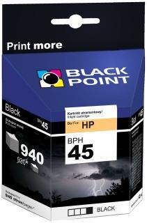Ink Black Point BPH45   Black   42 ml   940 p.   HP 51645