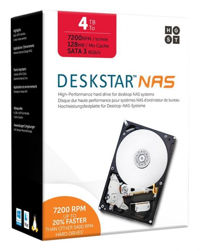 Hitachi HDD Deckstar NAS Desktop Drive Kit 3.5'', 4TB, SATA III, 128MB Cache