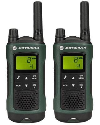 Motorola T81 HUNTER vysílačka - 10 km, 8 kanálů, zelená