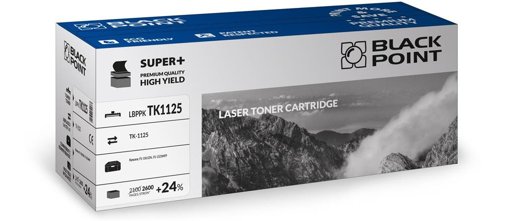 Toner Black Point LBPPKTK1125 | Black | 2600 pp | Kyocera TK-1125