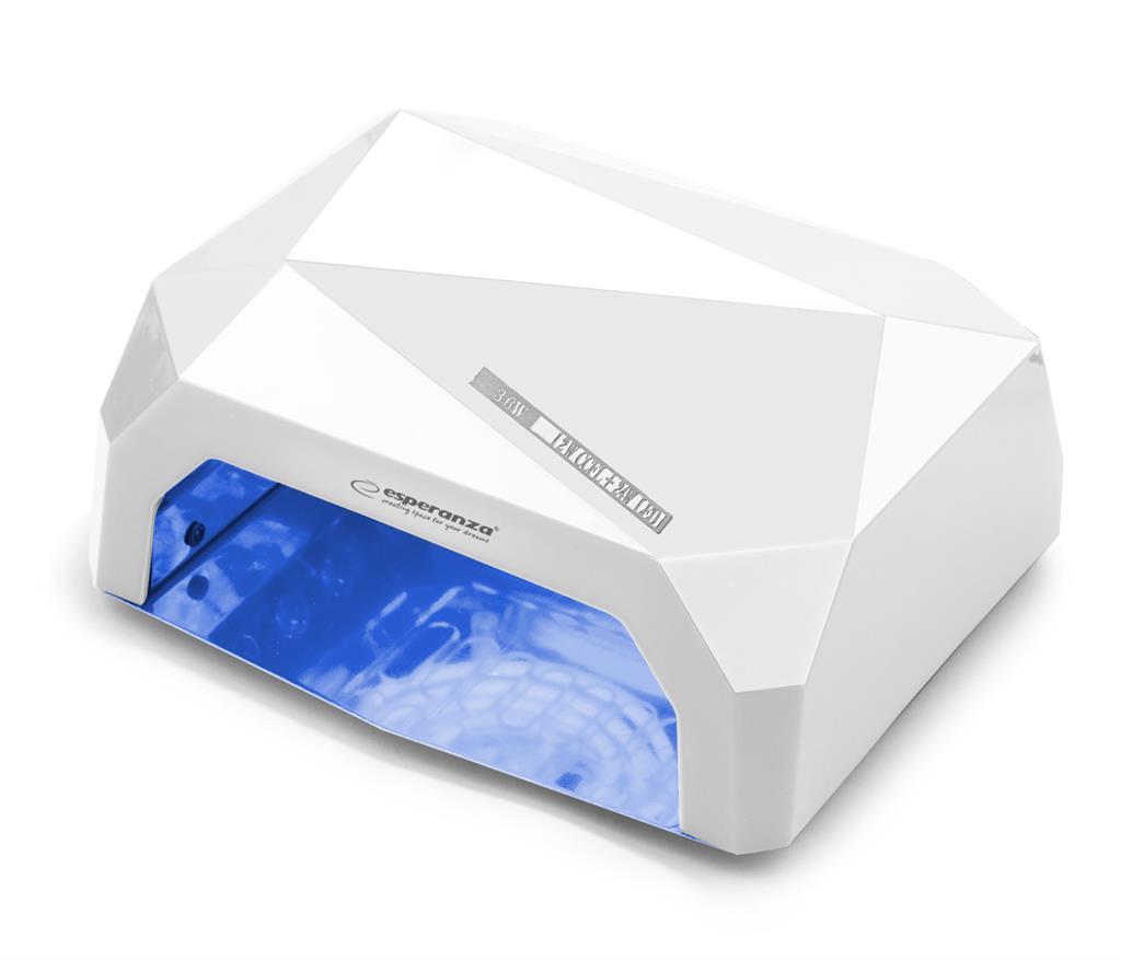 Esperanza EBN002W ONYX UV LED lampa na gelové nehty a laky, 36W, bílá