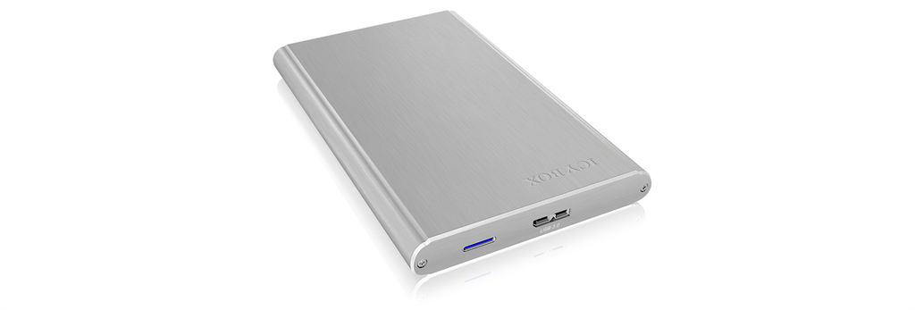 IcyBox External enclosure for 2,5'' SATA HDD/SSD 7.5mm, USB 3.0, Silver