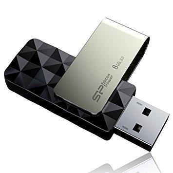 Silicon Power flash disk USB Blaze B30 8GB USB 3.0 černý