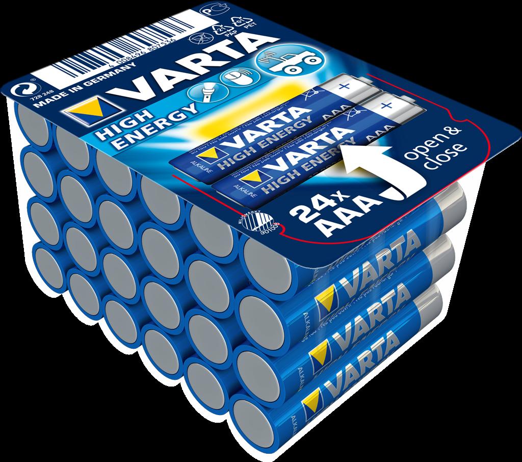 Alkaline Batteries VARTA R3 (AAA) 24pcs High Energy