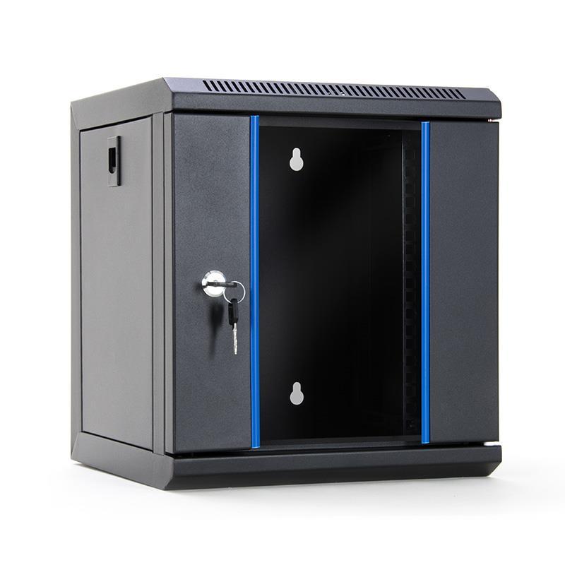 START.LAN rack wall-mount cabinet 10'' 6U 312x300mm black (glass front door)