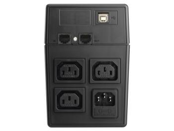 Power Walker UPS Line-Interactive 800VA 3x IEC C13, PURE SINE, RJ11/RJ45,USB,LCD