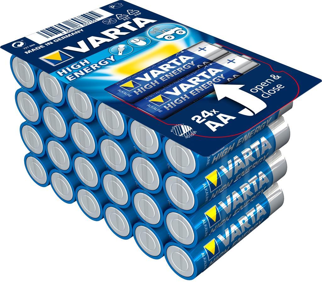 Alkaline Batteries VARTA R6 (AA) 24pcs High Energy