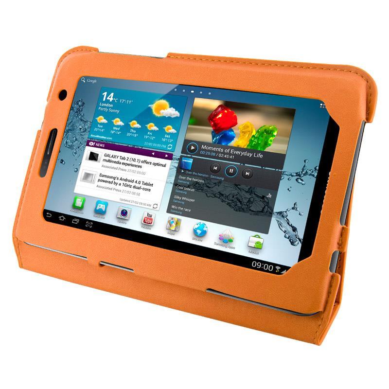 4World Pouzdro - stojan pro Galaxy Tab 2, Ultra Slim, 7'', oranžový