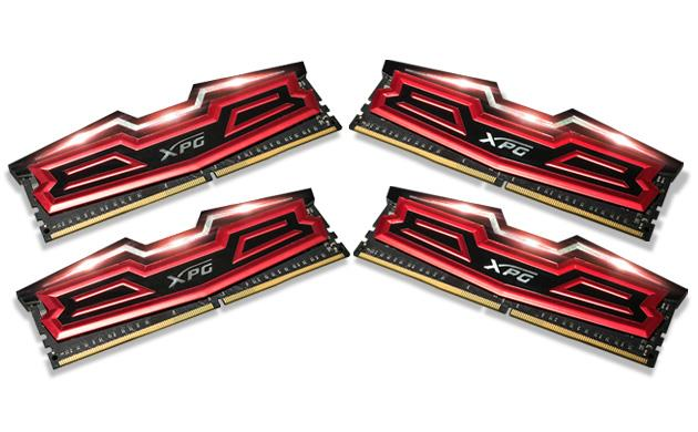 DIMM DDR4 64GB 2400MHz CL16 (KIT 4x16GB) ADATA XPG Dazzle, Red/Black