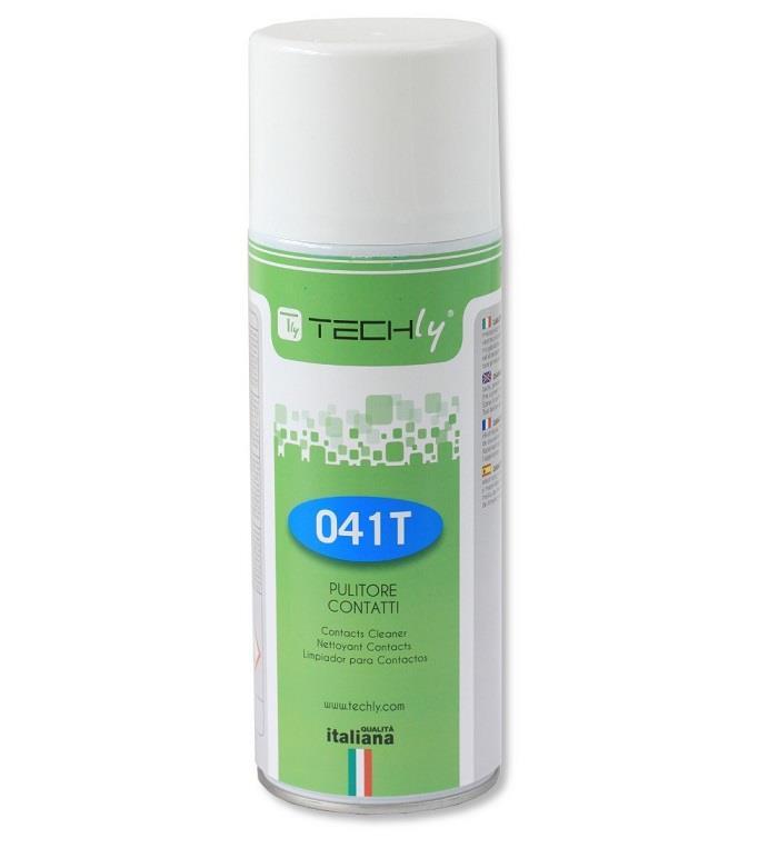 Techly čistící sprej na elektrické a elektronické kontakty, 400ml