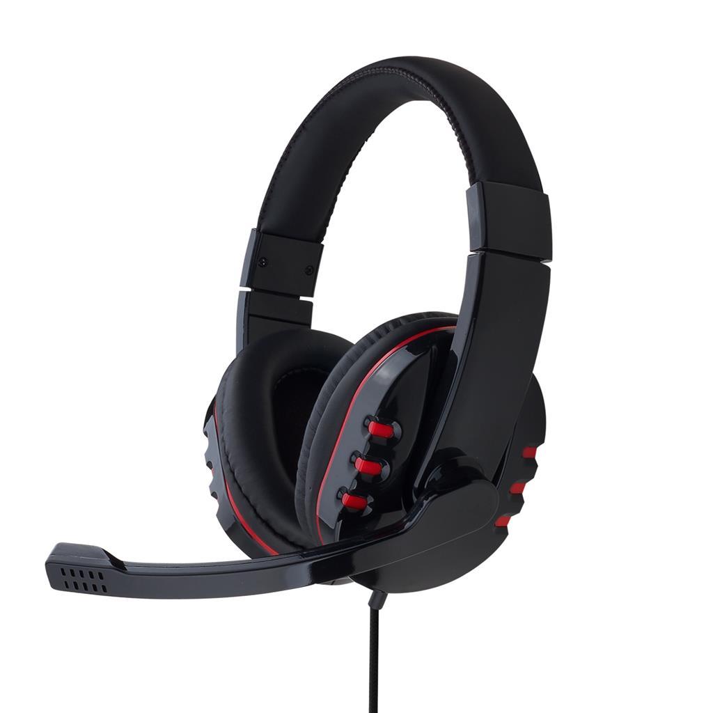 Gembird Gaming sluchátka s mikrofonem a regulací hlasitosti, lesklé černé