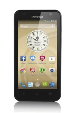 "PRESTIGIO MultiPhone 3450 DUO, 4.5"" IPS, Dual SIM, Android 4.4, Quad Core 1,3GHz, 4GB ROM,512MB RAM,MicroSD slot, černý"