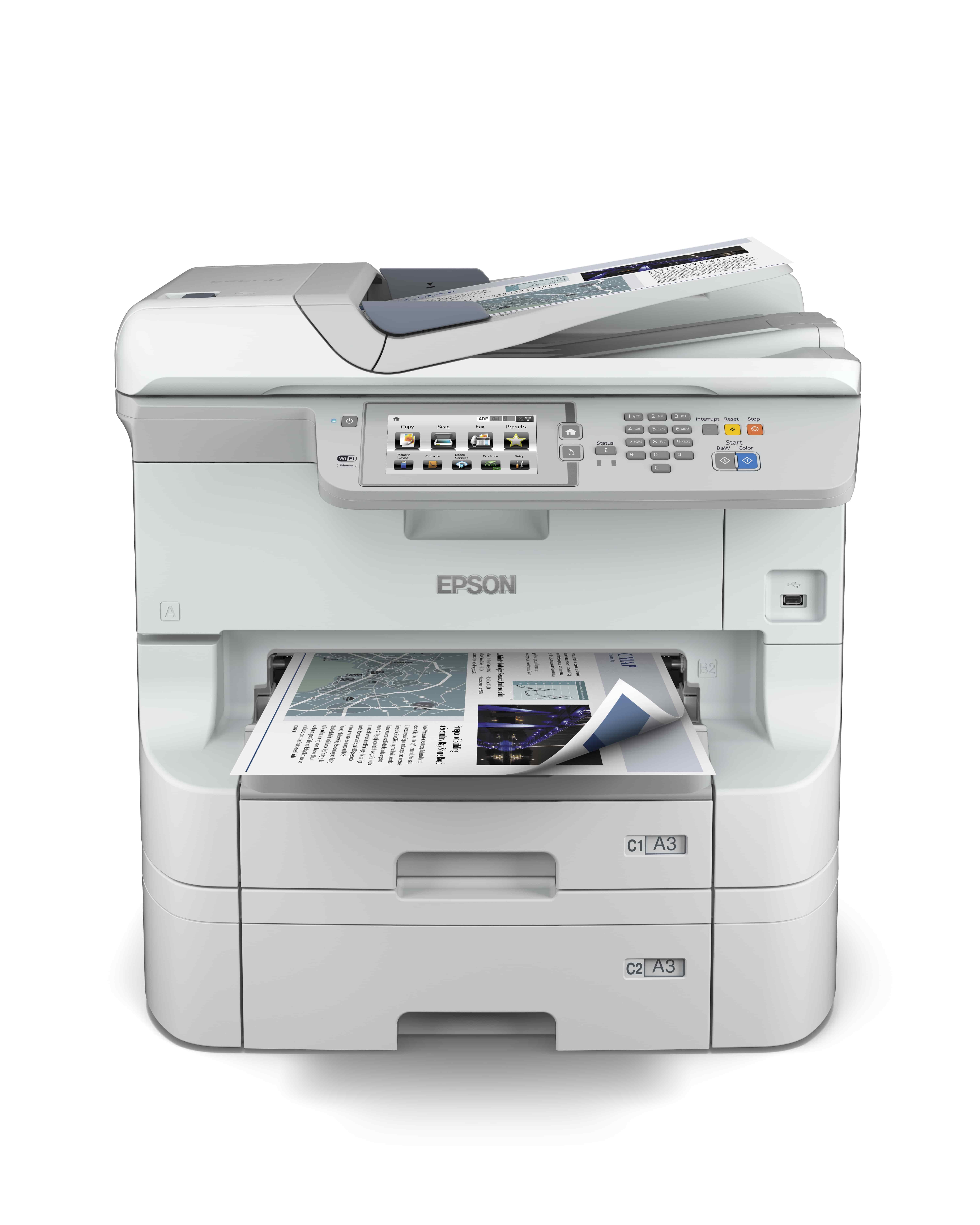 EPSON WorkForce Pro WF-8590DTWF (220V) + XXL černý inkoust zdarma