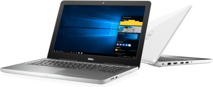 "DELL Inspiron 5567/i5-7200U/4GB/1TB/15,6""/HD/int. 620/Win10 64bit Bílá"