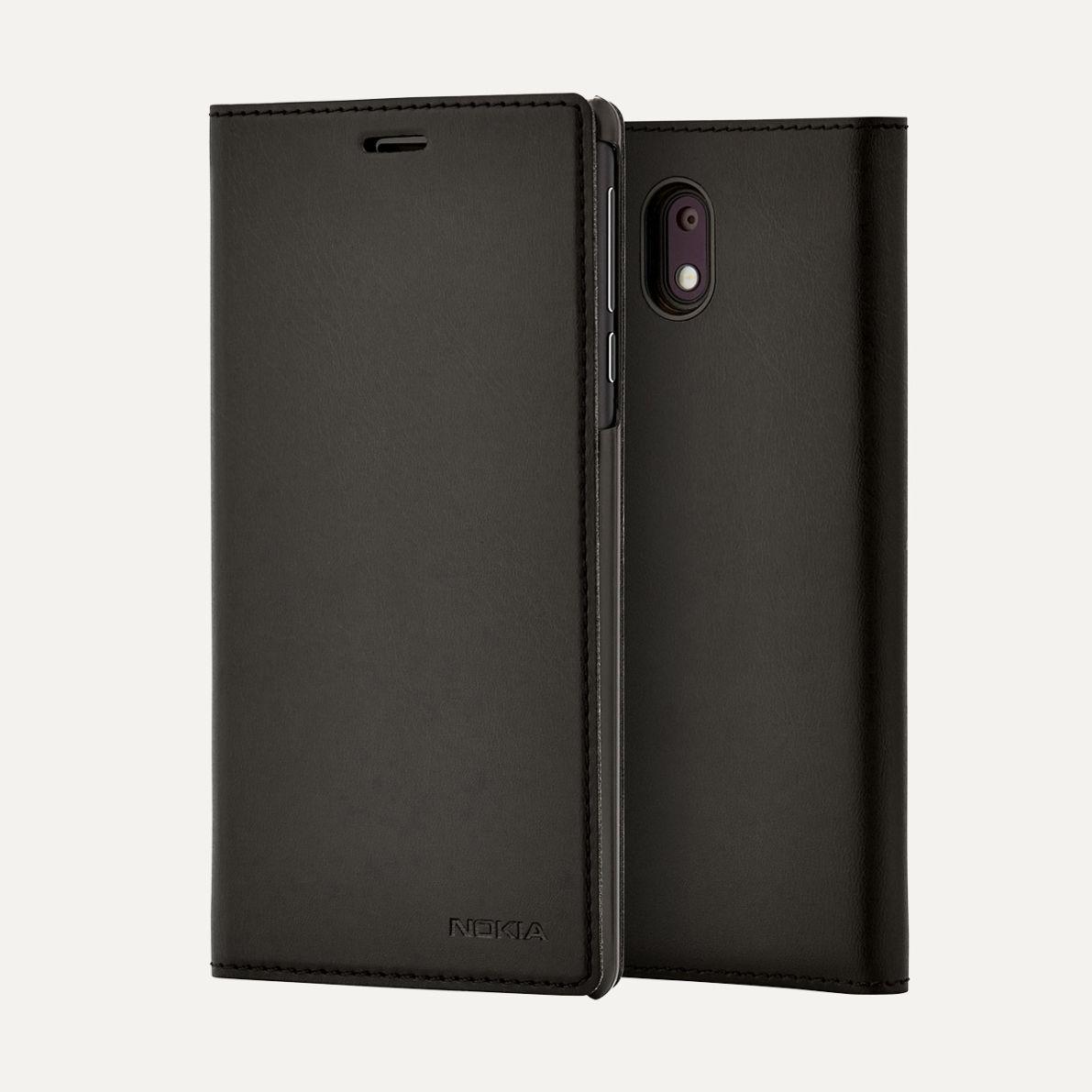 Nokia CC-303 Slim Flip Cover pro Nokia 3, Black