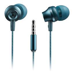 CANYON Stereo sluchátka s mikrofonem, kovová ,1,2M, modrozelená