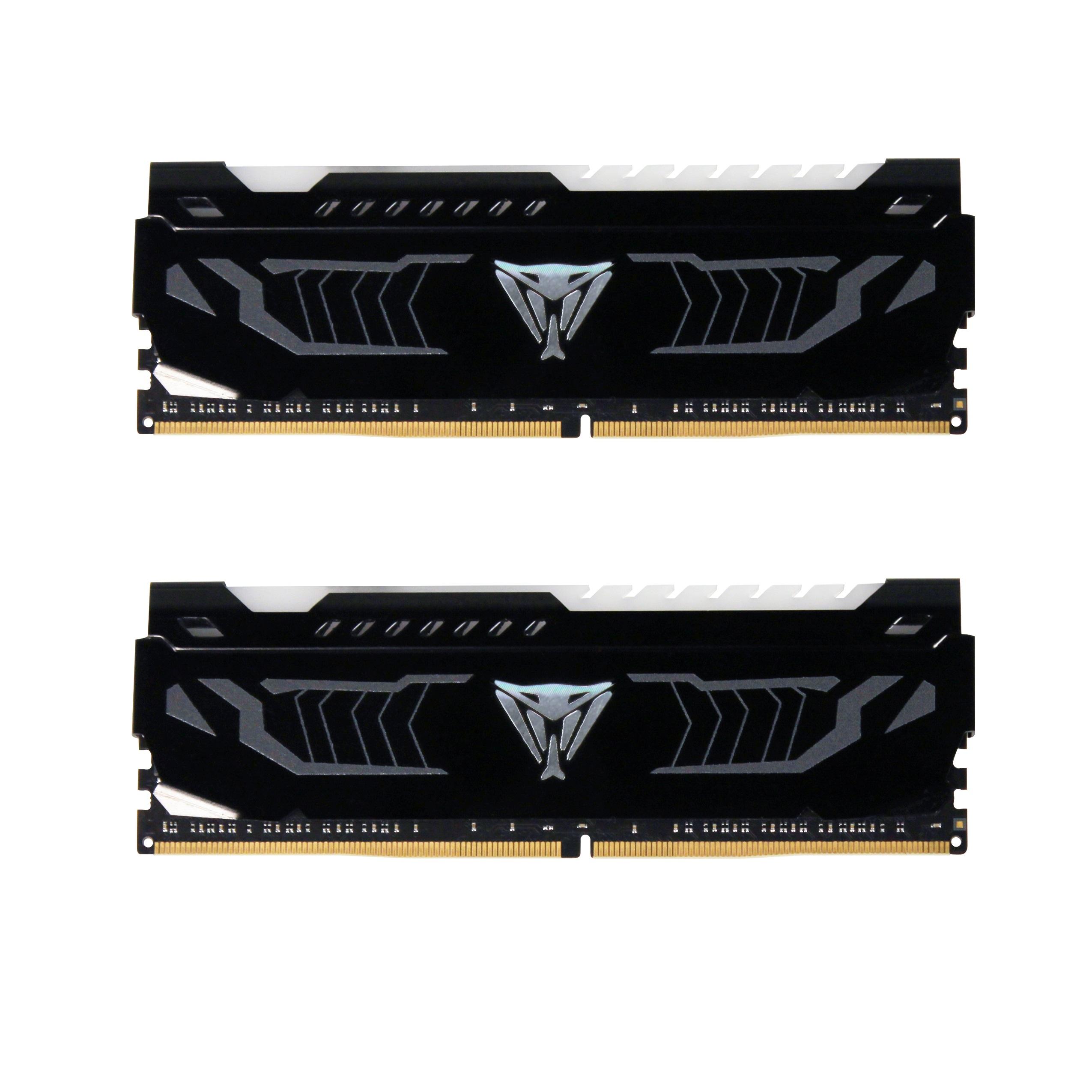 16GB DDR4-2666MHz Patriot Viper CL15, 2x8GB. červené LED