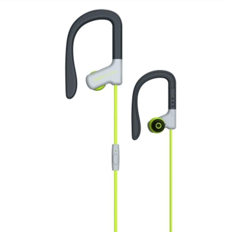 ENERGY Earphones Sport 1 Yellow, sportovní sluchátka s mikrofonem, 3,5mm jack, 93dB ± 3dB