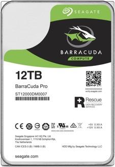 "Seagate BarraCuda Pro 3,5"" - 12TB/7200rpm/SATA-III/256MB"