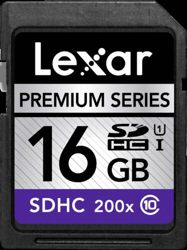 Paměťová karta Lexar SDHC Card 16GB 200x Premium, LSD16GBBEU200