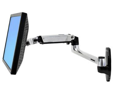 """ERGOTRON LX Wall Mount Arm, Polished Aluminum - nástěnný držák, max. 24"""" LCD"""
