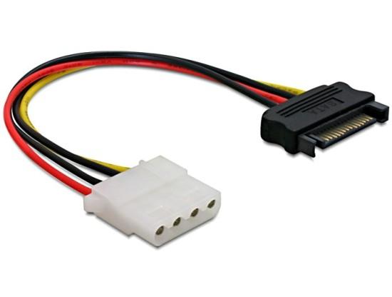 Power Adapter SATA 15-pin samec na Molex samice 4-pin, 12cm