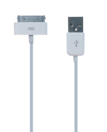 CONNECT IT 30pin - USB kabel, Apple: iPhone, iPad, iPod, bílý 1m