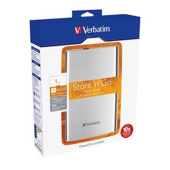 "VERBATIM HDD 2,5"" 1TB USB 3.0 Silver"
