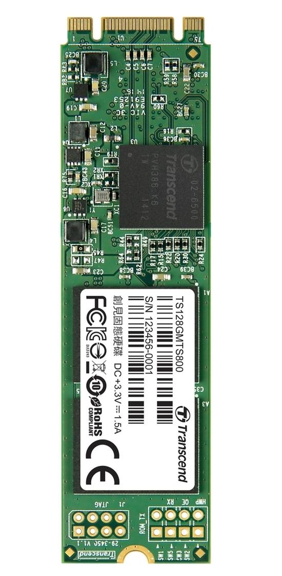 TRANSCEND MTS800 128GB SSD disk M.2 2280, SATA III (MLC)