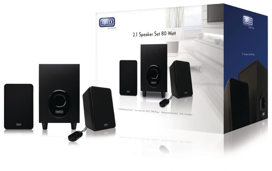 Sweex SP024 - Reproduktor 2.1 Kabelové 3.5 mm 11 W, černá
