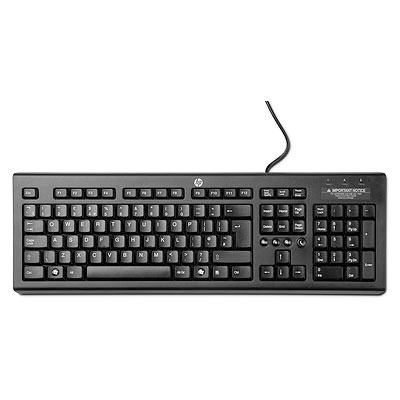 HP Classic Wired Keyboard - KEYBOARD - anglická