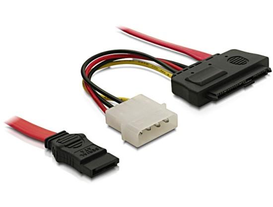 Delock kabel SAS 29-pin +napájení / 1x SATA 7-pin 50 cm