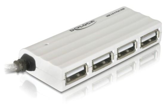 Delock externí slim USB 2.0 hub 4portový