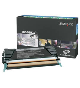Toner Lexmark black | return | 12000str | C736/X736/X738