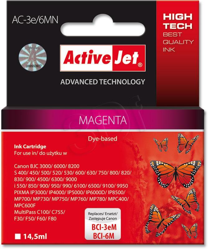ActiveJet Ink cartridge Canon BCI-3e Magenta - 14, 5 ml AC-3e/6M