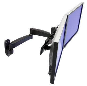 """ERGOTRON 200 Series Dual Monitor Arm, nástěnný držák pro 2 LCD,max 22"""", černý"""