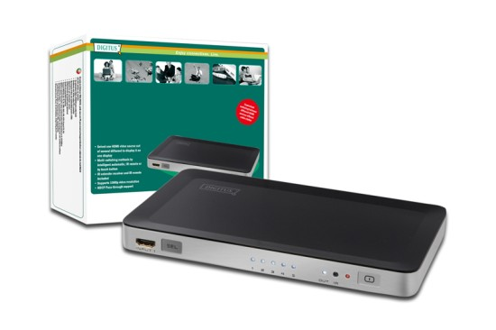 Digitus HDMI elektronický přepínač 5 => 1