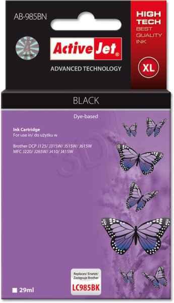 Inkoust ActiveJet AB-985BN   Black   29 ml   Brother LC985BK