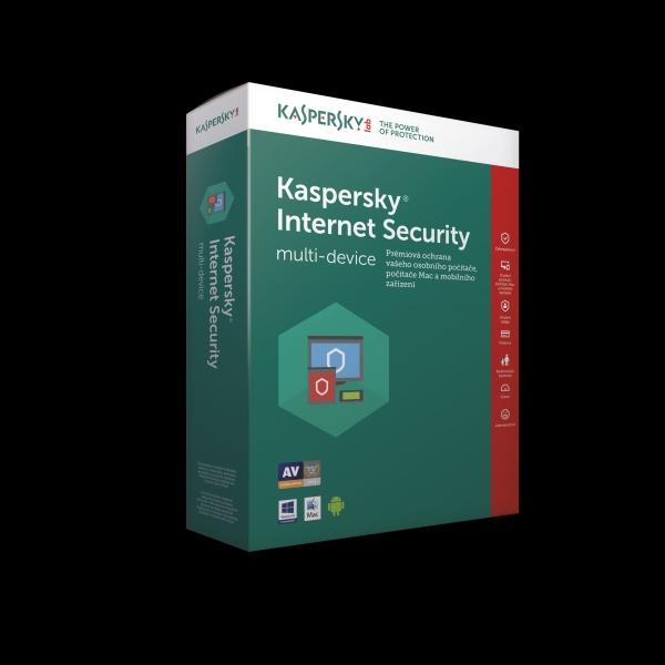 DOPRODEJ_Kaspersky Internet Security multi-device 2017 CZ, 5 zařízení, 2 roky, nová licence, elektronicky