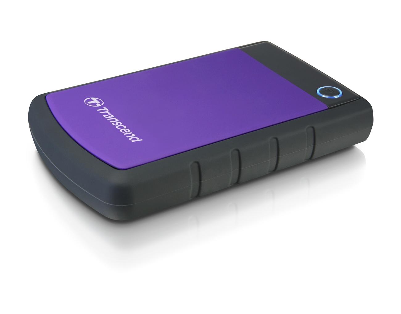 """TRANSCEND 4TB StoreJet 25H3P, USB 3.0, 2.5"""" Externí odolný hard disk, černo/fialový"""