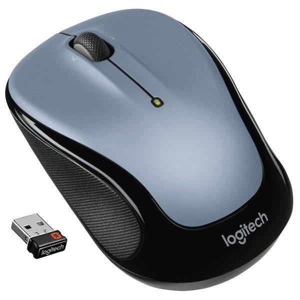 Logitech myš Wireless Mouse M325, optická, unifying přijímač, 3 tlačítka, světle šedá