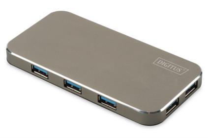 Digitus USB 3.0 Hub 7-Port, vč. 5V / 3,5A Napájení černá / mat
