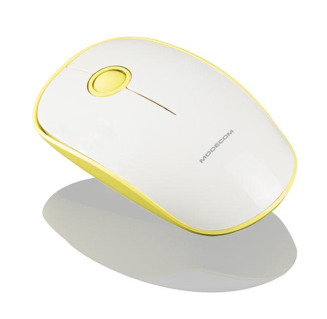 MODECOM Optická bezdrátová myš MC-WM112, žlutá+bílá