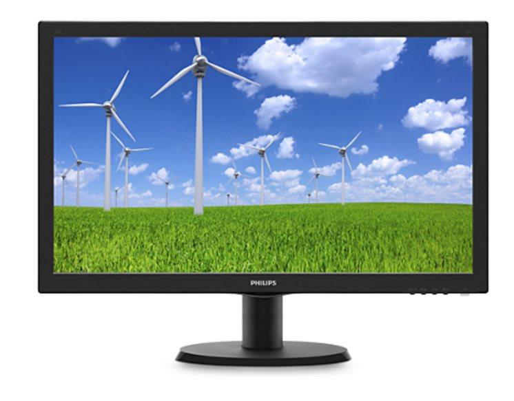 "Philips LCD 243V5LSB5 23,6""wide/1920x1080/1ms/10mil:1/250cd/VGA/DVI/LED"