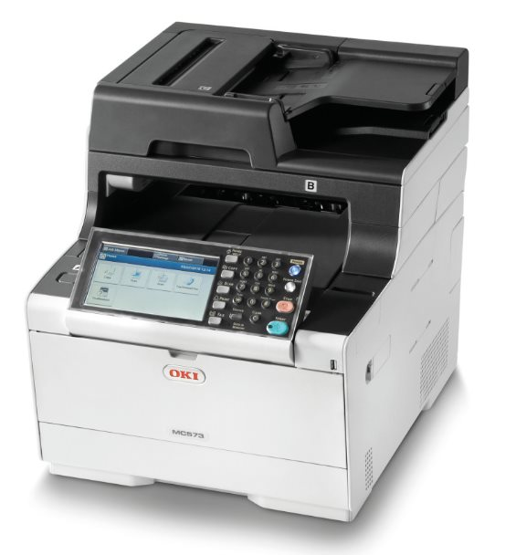 OKI MC573dn A4 30/30 ppm, 1200x1200dpi, 1GB RAM, RADF, USB 2.0 LAN, (Print/Scan/Copy/Fax)