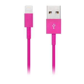 CONNECT IT COLORZ kabel Apple Lightning - USB, 1m, růžový