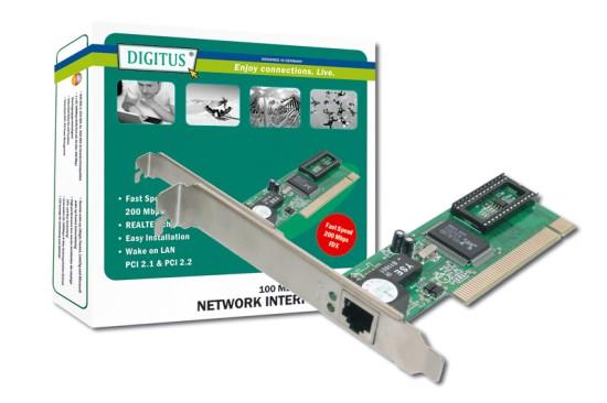 Síťová karta Digitus-Network 10/100 čipset Realtek 8139D, 5 LGW